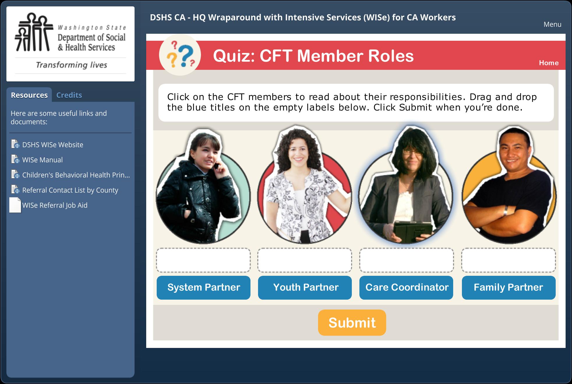 Quiz: CFT Member Roles