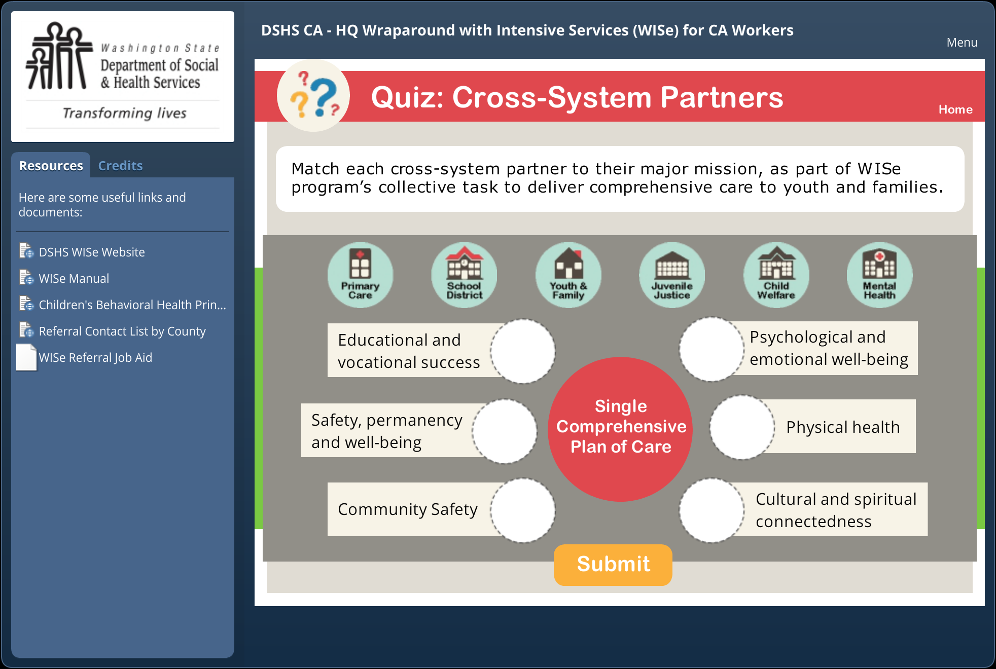 Quiz: Cross-System Partners