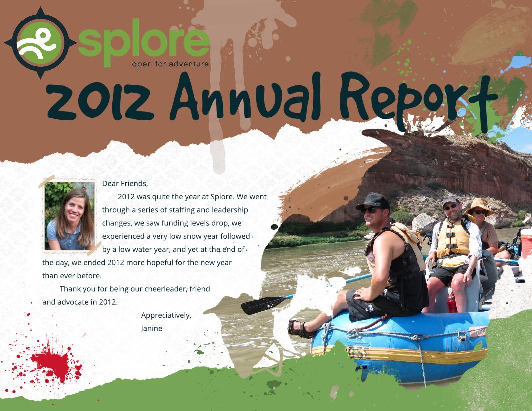 Splore Annual Report Page 1