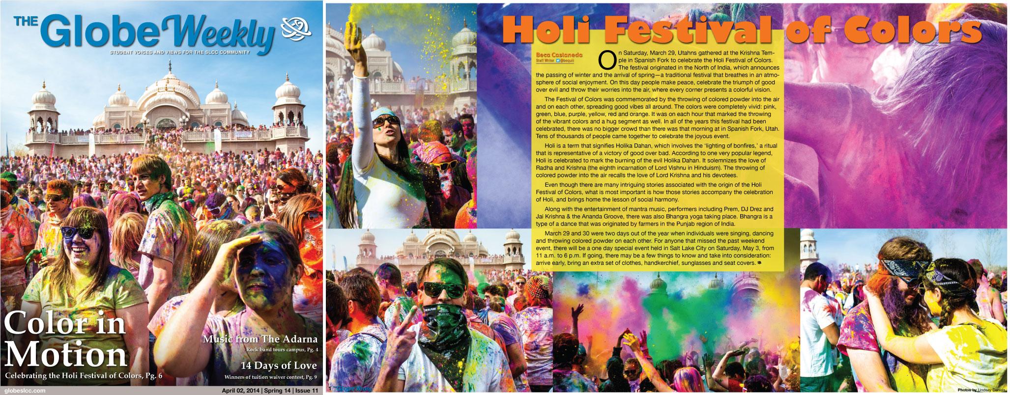 Color Festival Layout